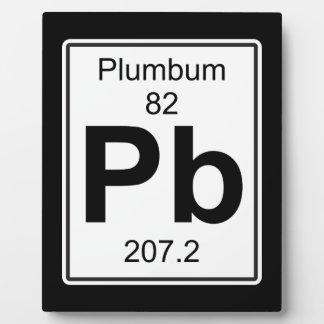 Pb - Plumbum Plaque