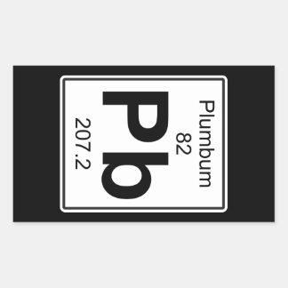 Pb - Plumbum Rectangular Sticker