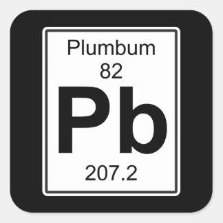 Pb - Plumbum Square Sticker