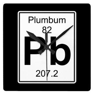 Pb - Plumbum Square Wall Clock