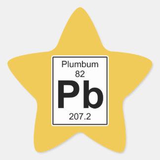 Pb - Plumbum Star Sticker