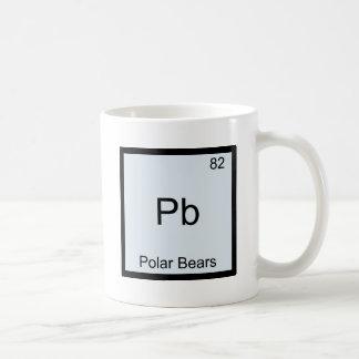 Pb - símbolo divertido del elemento de la química  tazas