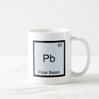 Pb - símbolo divertido del elemento de la química taza de café