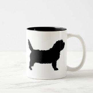 PBGV Dog (black) Two-Tone Coffee Mug