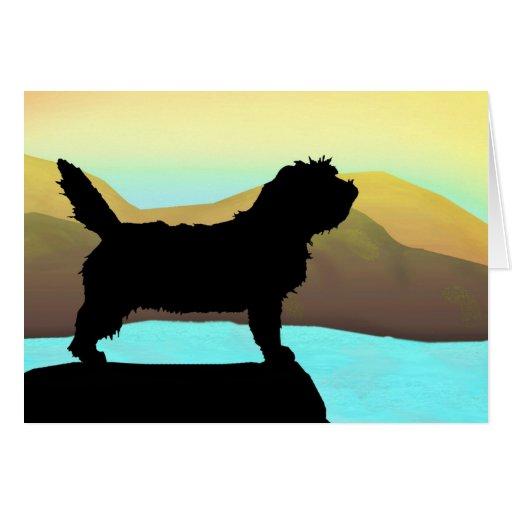 PBGV Dog By The Sea Greeting Cards