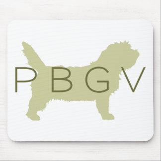 PBGV Dog (green with PBGV) Mouse Pad