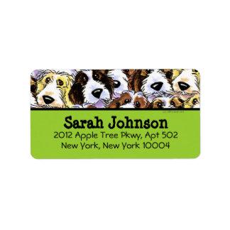 PBGV Dogs Dark Text Custom Color Personalized Address Labels