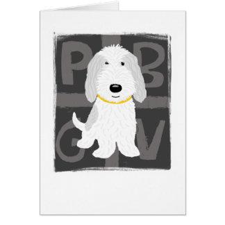 PBGV gris y blanco Tarjeta Pequeña
