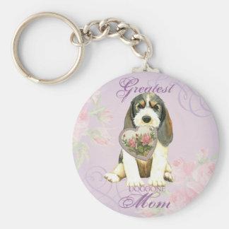 PBGV Heart Mom Keychain