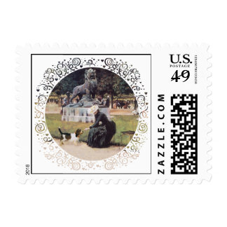 PBGV in the Park Stamp