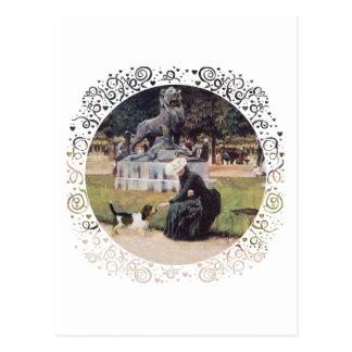 PBGV in the Park Postcard