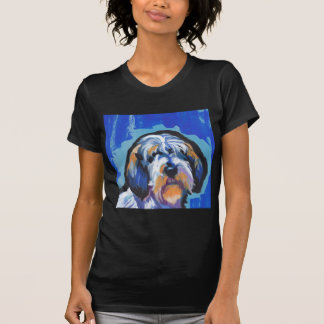 PBGV Petit Basset Griffon Vendeen bright pop art Tee Shirt