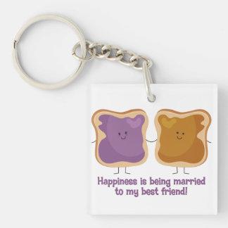 PBJ Married Best Friend Single-Sided Square Acrylic Keychain