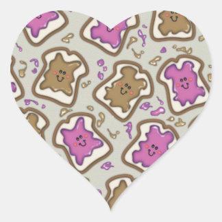 PBJ Sandwich Heart Sticker