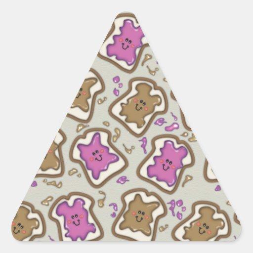 PBJ Sandwich Triangle Sticker