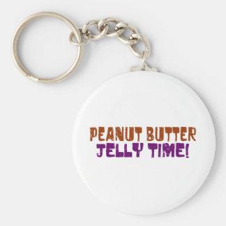 Pbj Time Basic Round Button Keychain