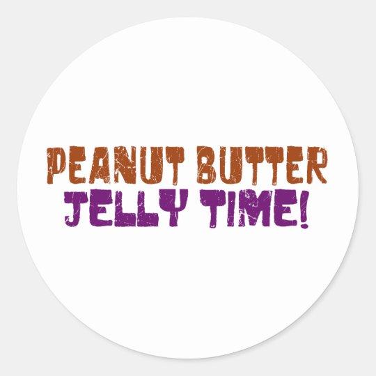 Pbj Time Classic Round Sticker