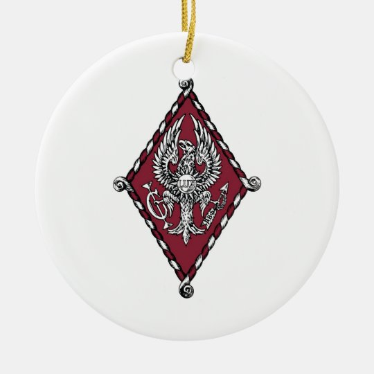 PBP Color Crest Ceramic Ornament