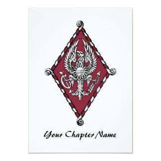 PBP Color Crest 5x7 Paper Invitation Card