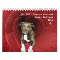 PBRC Happy Endings 2013 Pit Bull Calendar