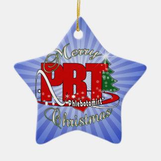 PBT CHRISTMAS PHLEBOTOMIST LABORATORY CERAMIC ORNAMENT