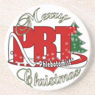PBT CHRISTMAS PHLEBOTOMIST LABORATORY DRINK COASTER