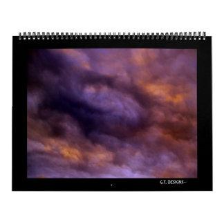 PC073981-2, G.T. DESIGNS~Dark y serie rica Calendario De Pared