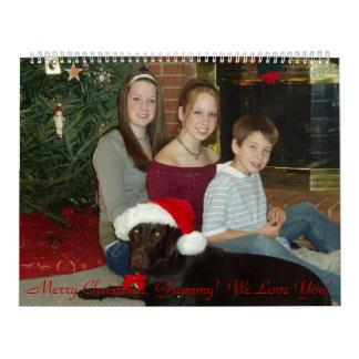 PC090017, Merry Christmas, Grammy!  We Love You! Calendar