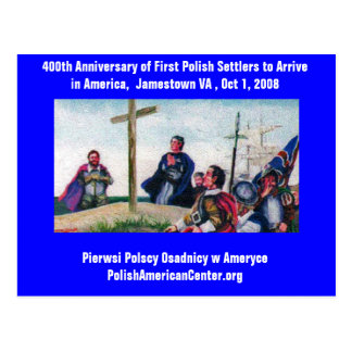 PC 400th Anniversary First Polish Settlers Postcard