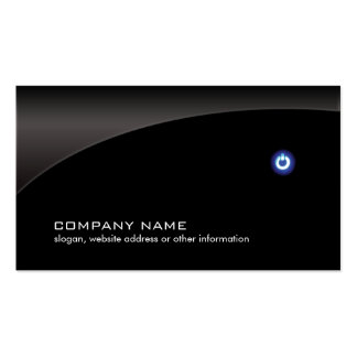 PC Computer Repair Technician Simple Black Business Card