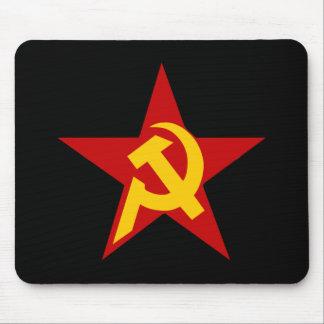 PC comunista del martillo y de la hoz de la estrel Alfombrillas De Ratón
