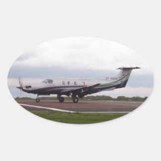 PC de Pilatus 12 SP-NWM Pegatina Ovalada