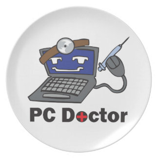 PC DOCTOR PARTY PLATES