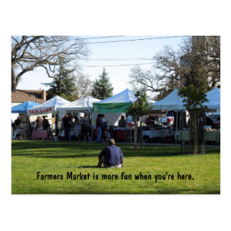 PC: Farmers Market is More Fun When You're Here Postcard