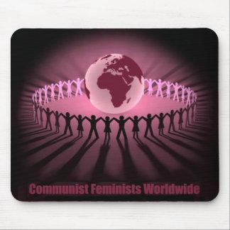 PC feminista comunista Alfombrillas De Raton