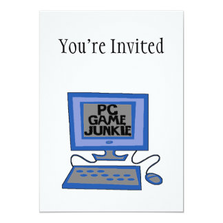 PC Game Junkie 5x7 Paper Invitation Card