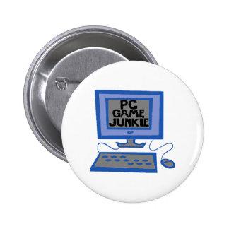 PC Game Junkie Pinback Button