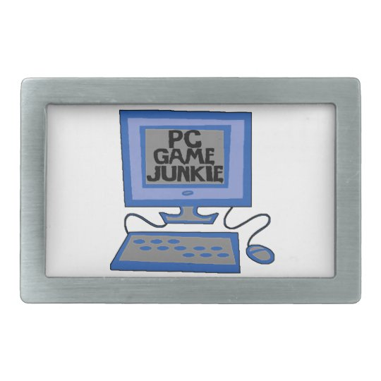 PC Game Junkie Rectangular Belt Buckle