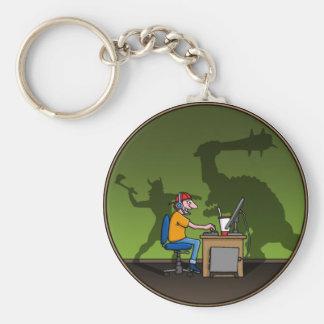 PC Gamer Llavero Redondo Tipo Pin