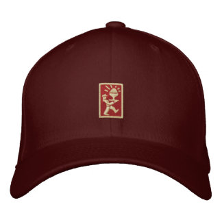 PC Ice Cream Man Logo (drk red/crm) Embroidered Baseball Caps
