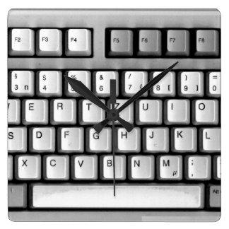 PC-keyboard Square Wall Clocks