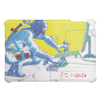 PC Ninja Warrior Cartoon Drawing iPad Mini Cases