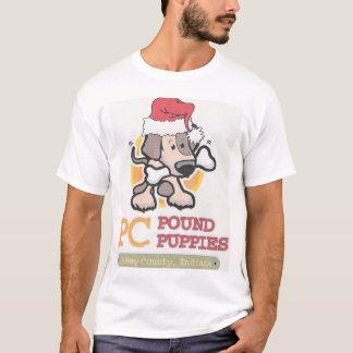 PC Pound Puppies Santa T-Shirt