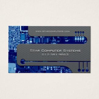 PC Repair Business Card Circuits Cutaway