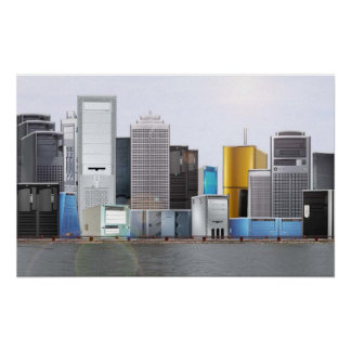 PC Tower Skyline Poster