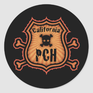 PCH and Crossbones Classic Round Sticker