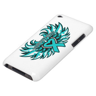 PCOS Awareness Heart Wings iPod Case-Mate Cases