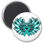 PCOS Awareness Heart Wings.png Fridge Magnet