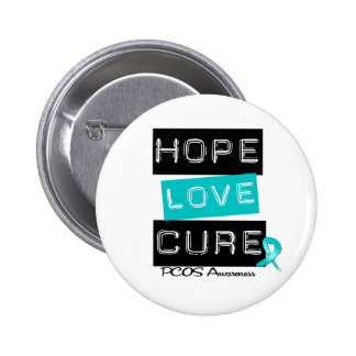 PCOS Awareness  Hope Love Cure Button