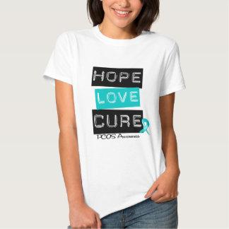 PCOS Awareness  Hope Love Cure Tees